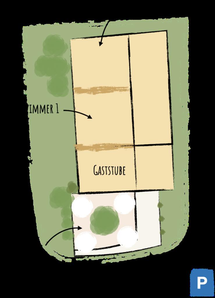 Räume und Panoramaterrasse